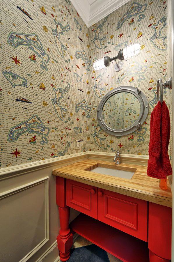 mapas en baño