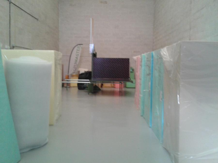 Foto m quina y material propios de espumaster gomaespuma - Espuma a medida barcelona ...