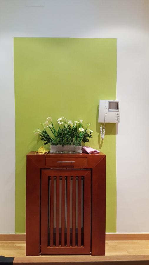 Marco de papel para cubre radiador.