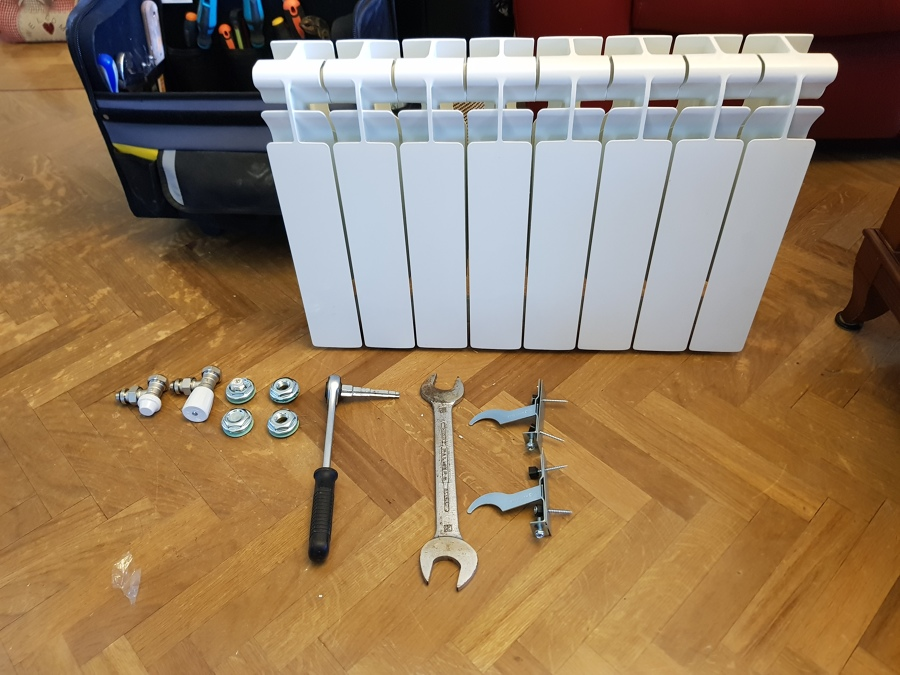 Material necesario para montar radiador