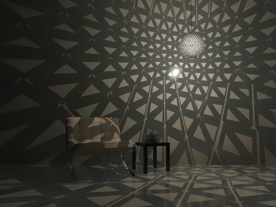 Efecto increíble con lámpara hecha con paple de aluminio