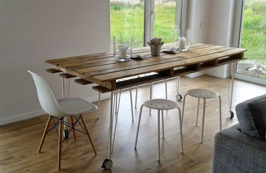 descubre los diferentes tipos de mesas que puedes hacer con pal s ideas decoradores. Black Bedroom Furniture Sets. Home Design Ideas