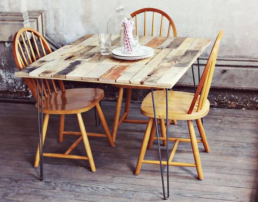 Descubre los diferentes tipos de mesas que puedes hacer for Mesa de comedor con palets