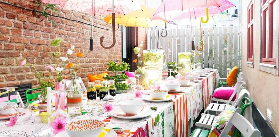 Di adi s al verano con una gran fiesta en el jard n ideas decoradores for Casa jardin buffet