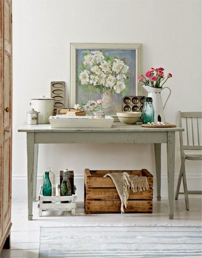 mesa de cocina rstica con elementos