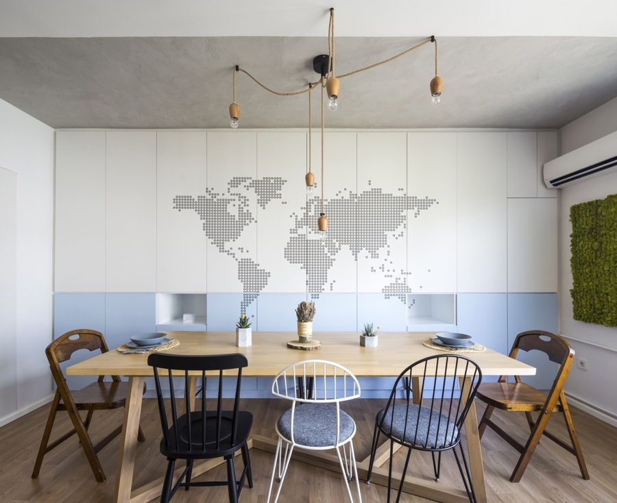 Mesa de comedor compartida