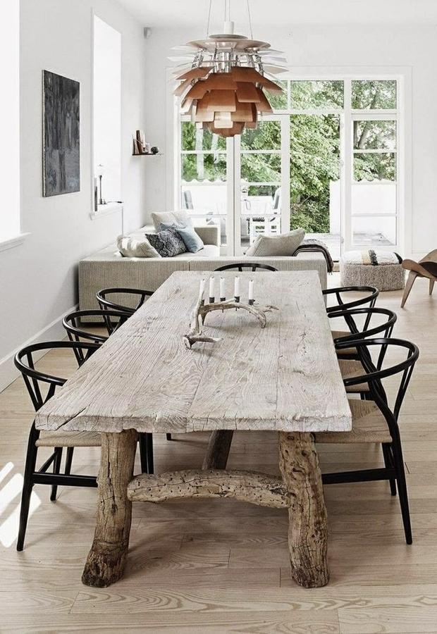 foto: mesa de comedor con patas de madera de elenatorrente díaz