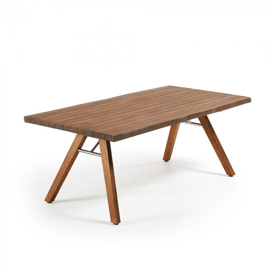 Mesa de madera para interior o terraza