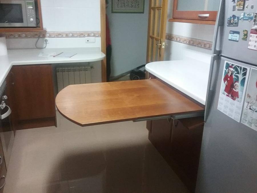 Mesas extraibles de cocina latest conjunto cocina mesa for Patas muebles cocina