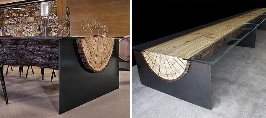 Mesa donde se configuran los zapatos con el cliente