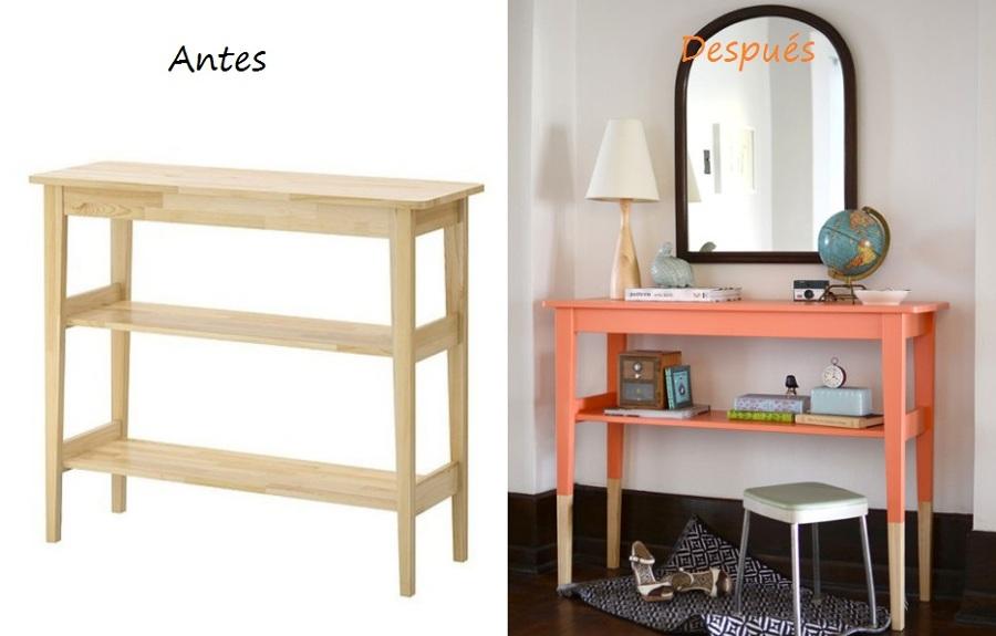 Trucos para modificar tus muebles de ikea ideas decoradores for Mesa auxiliar esquinera