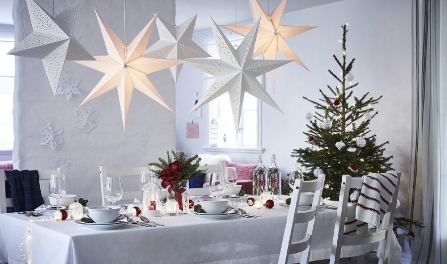 mesa navideña con productos VINTERFEST IKEA