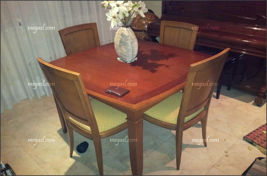 Mesa y sillas de comedor lacadas en blanco ideas carpinteros - Lacar una mesa ...