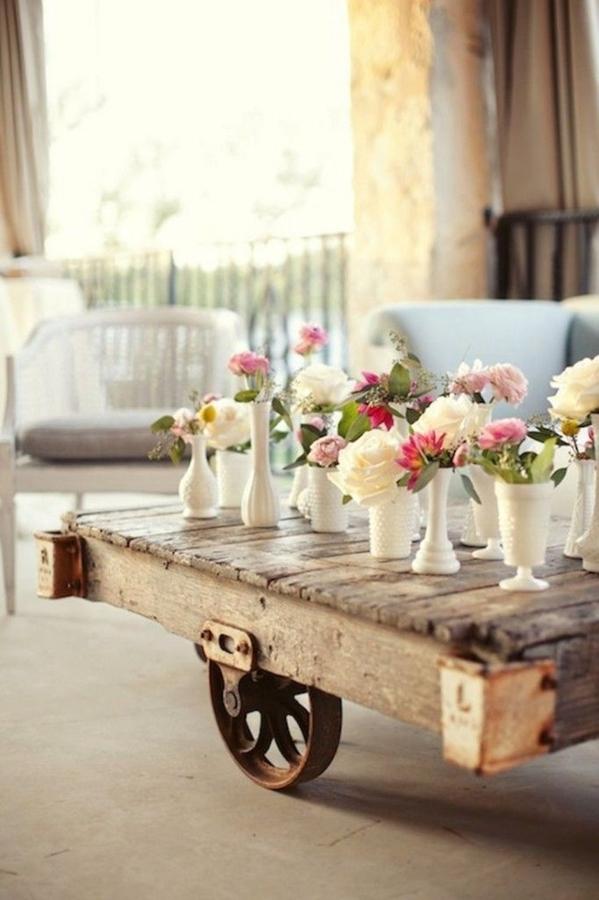 Deja ver tu lado creativo y construye tus propias mesas auxiliares ideas decoradores - Mesas de pale ...