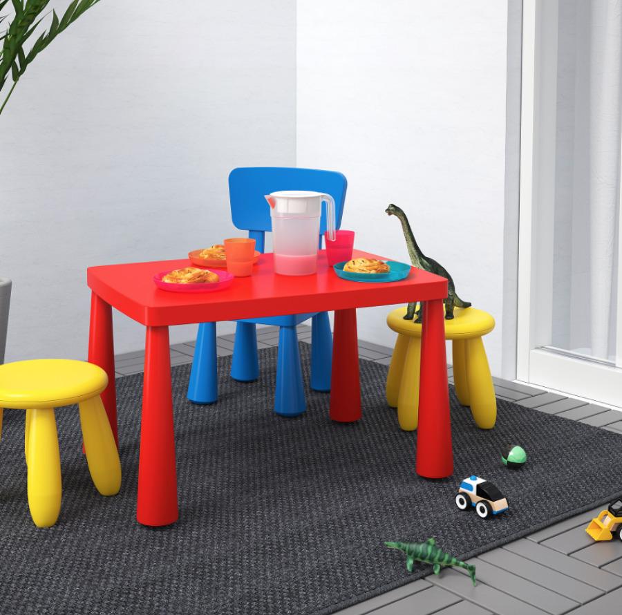 Mesa para niños MAMMUT, IKEA.