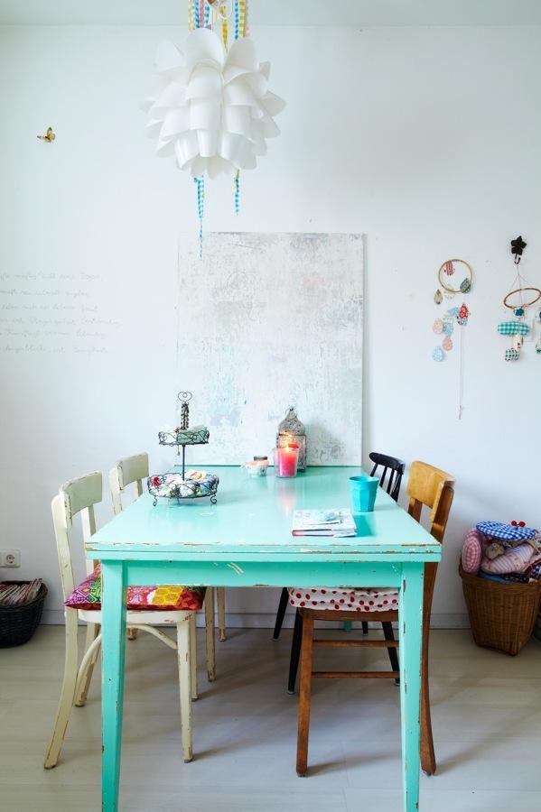 mesa tocinera pintada