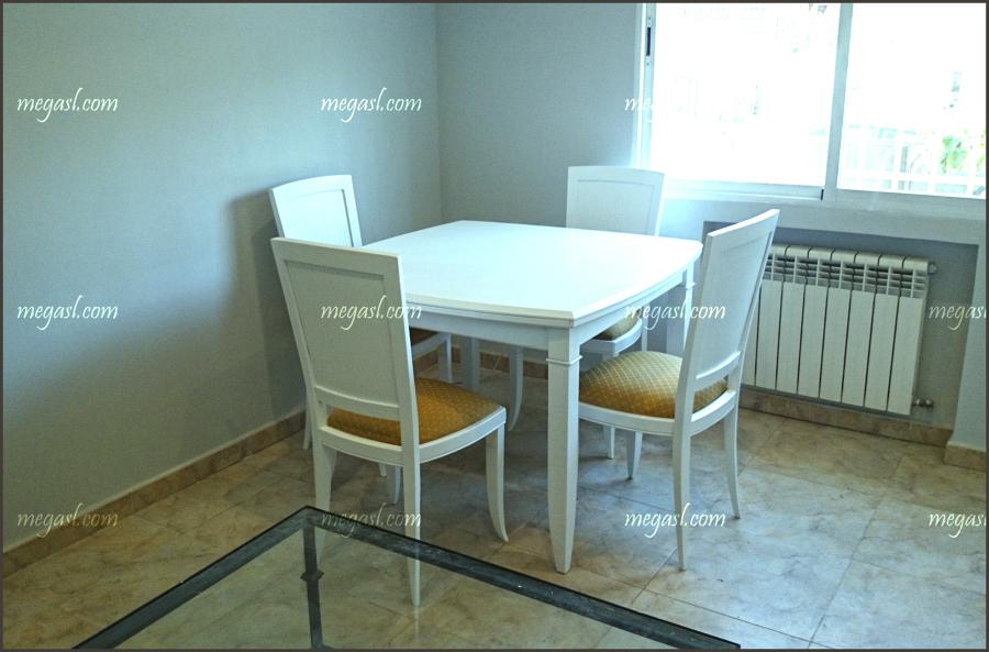 mesa y sillas de comedor lacadas en blanco ideas carpinteros