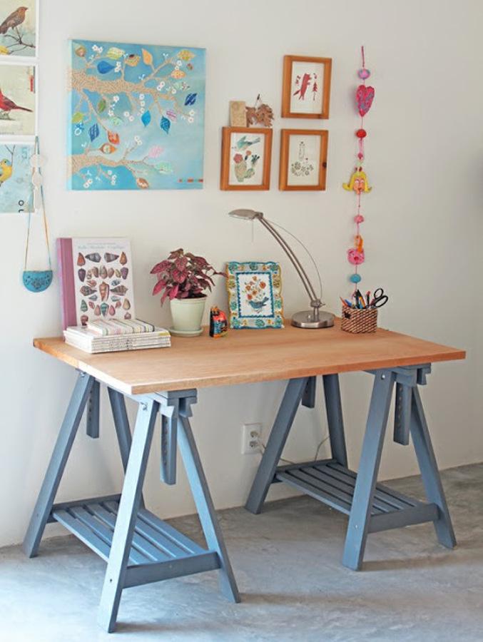 Caracter sticas de las mesas con cabellete ideas - Mesa con caballetes ...
