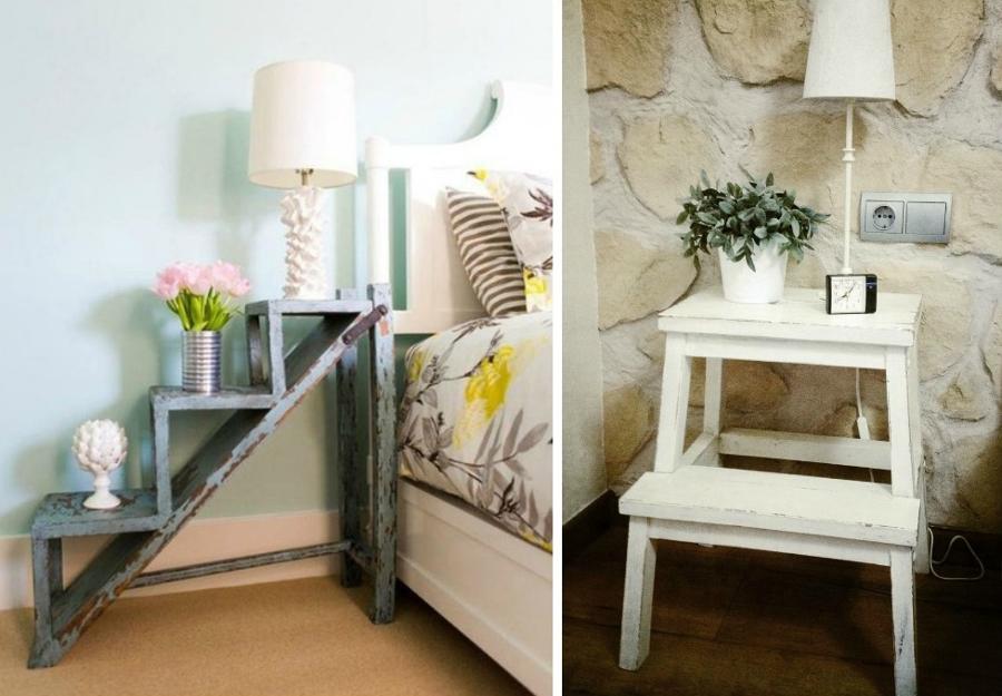 mesas de noche con escaleras