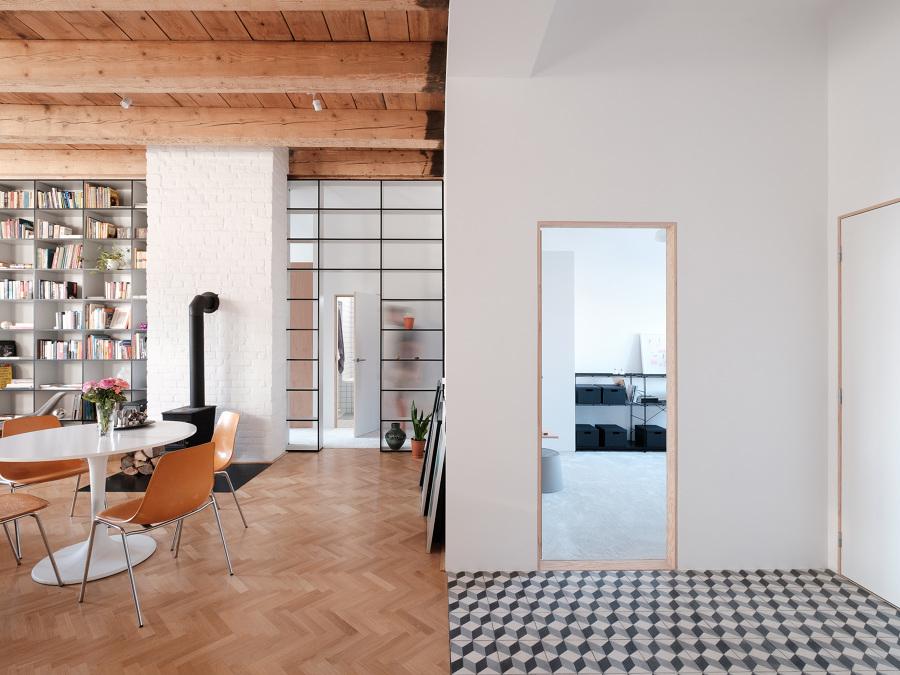 mezcla de texturas en espacio interior