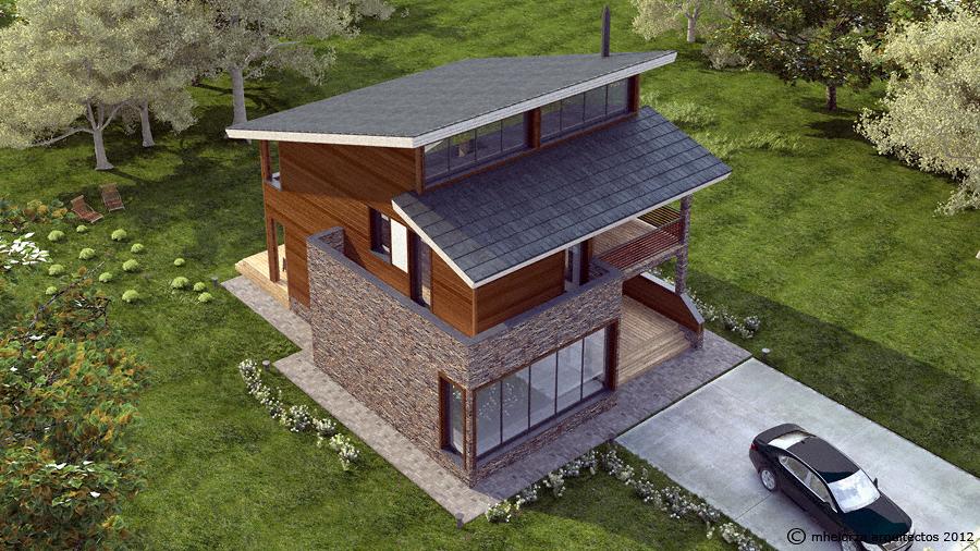 MH228 Casa de Madera Bioclimática