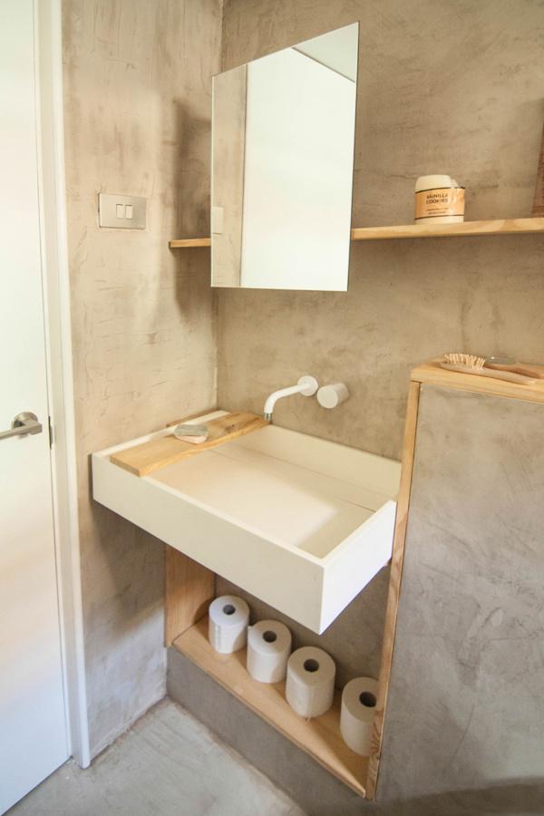 8 muebles auxiliares para el ba o diy obra ideas - Decoracion con microcemento ...