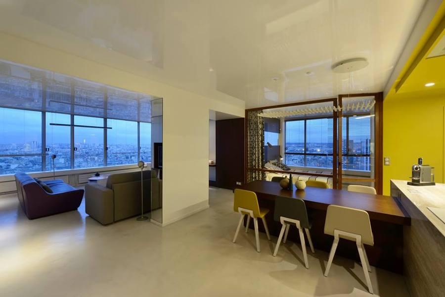 Microcemento en apartamento de Paris