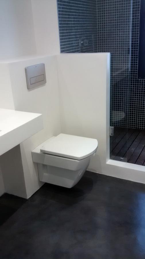 Foto microcemento en paredes y suelo de microcemento - Microcemento en paredes ...