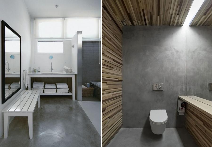 Ba os de cemento una opci n asequible y duradera ideas decoradores - Suelo de microcemento pulido ...