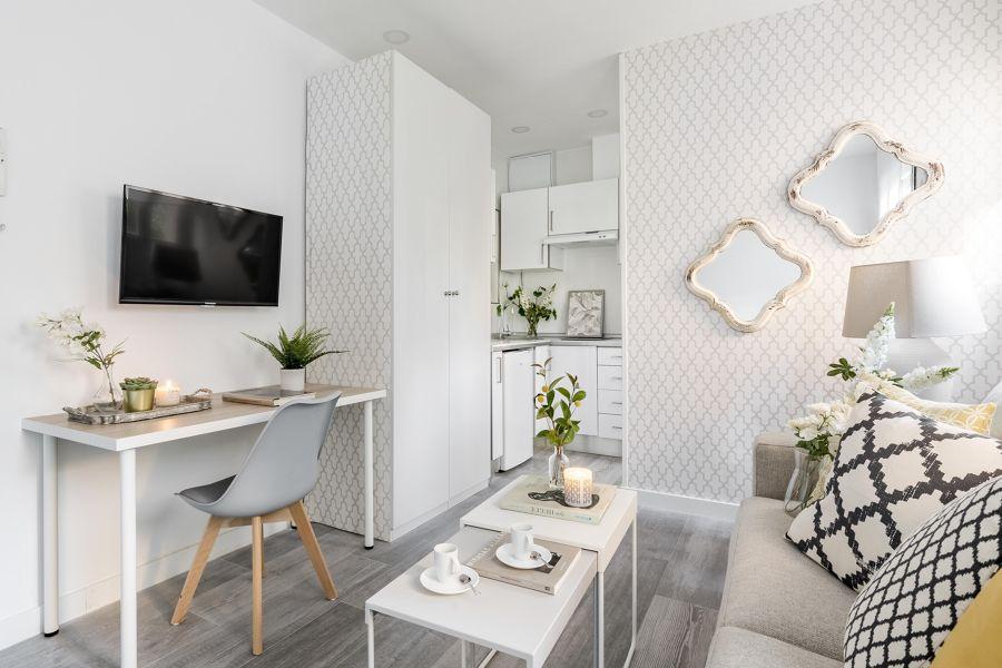 Mini salón estilo nórdico