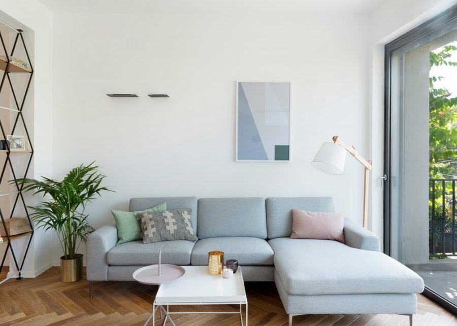 Sofá azul claro