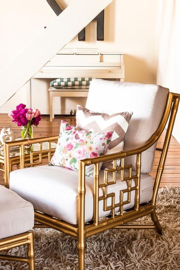 silla en dorado