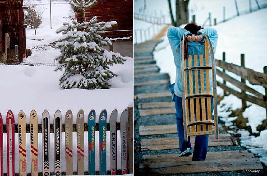 Mobiliario exterior esquís