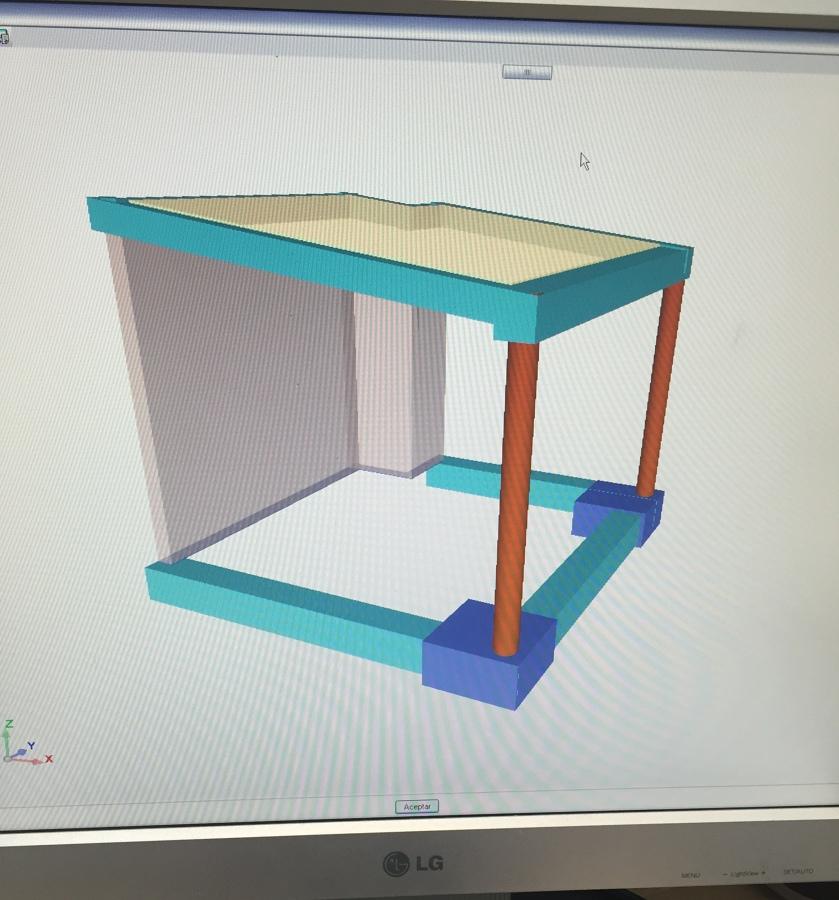 Modelado 3D de la estructura