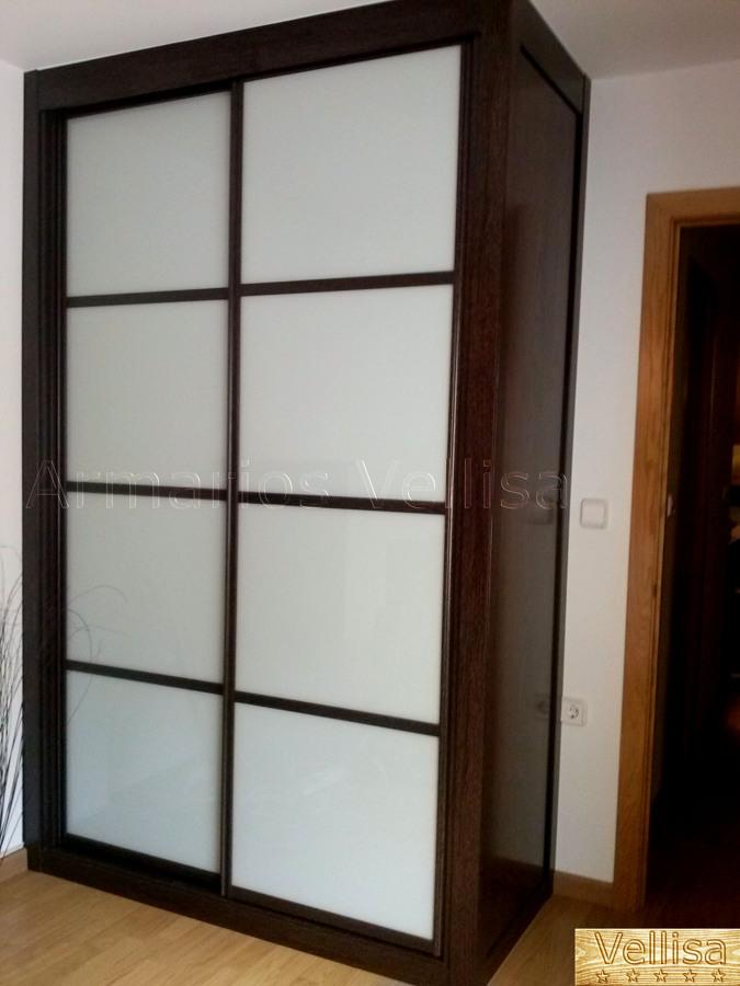 Aparador E Adega ~ Armario Modelo Japonés con Cristal Blanco y Resto Color Wengué, Madrid Ideas Armarios