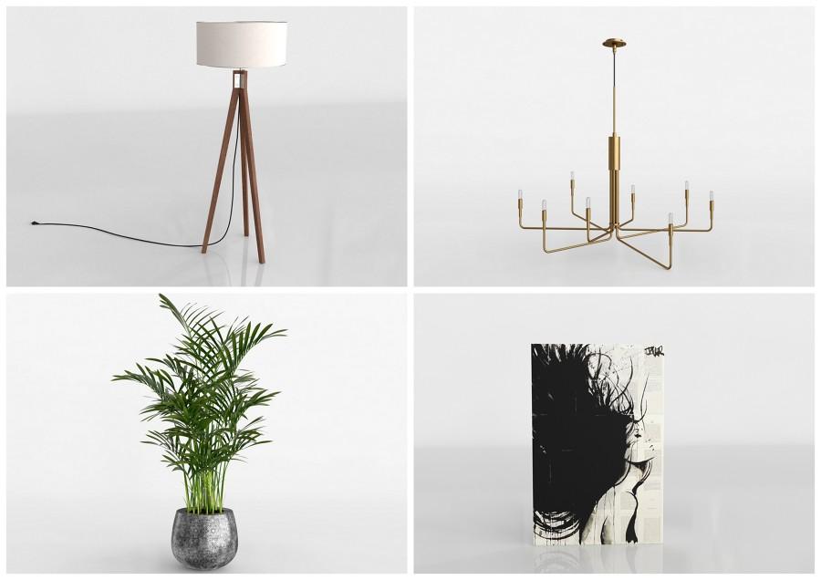 Modelos 3D - lámparas y accesorios