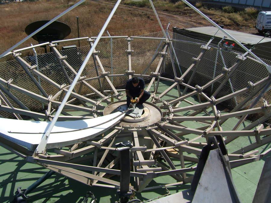 Montaje de la antena