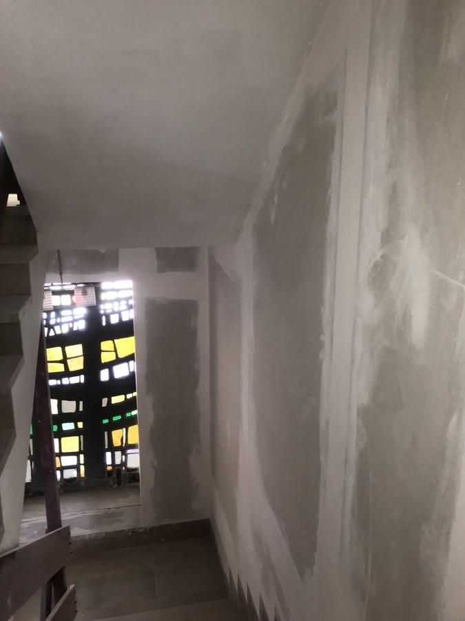 Montaje de pladur en pasillos
