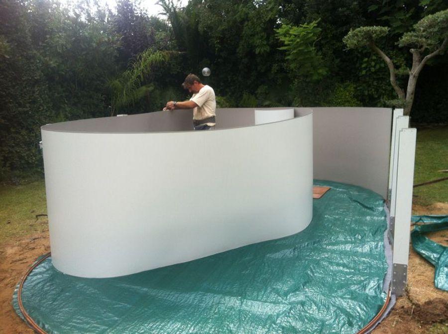 Montaje de piscina elevada de madera en tarragona ideas for Piscinas prefabricadas madera