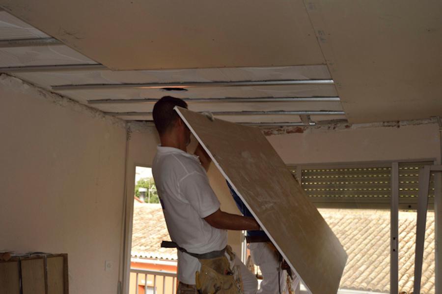 montaje techo pladur
