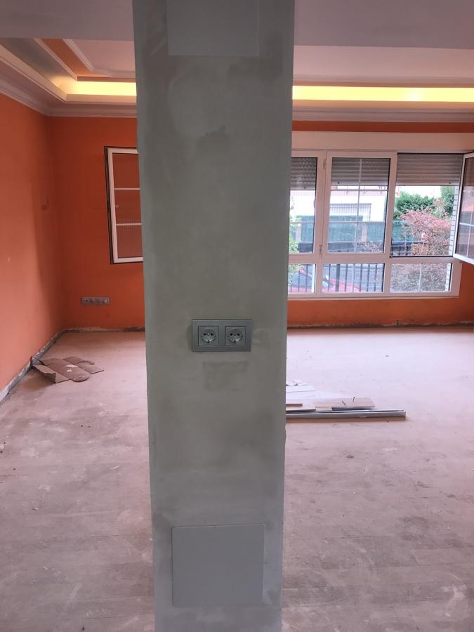 Montaje y resane de columna