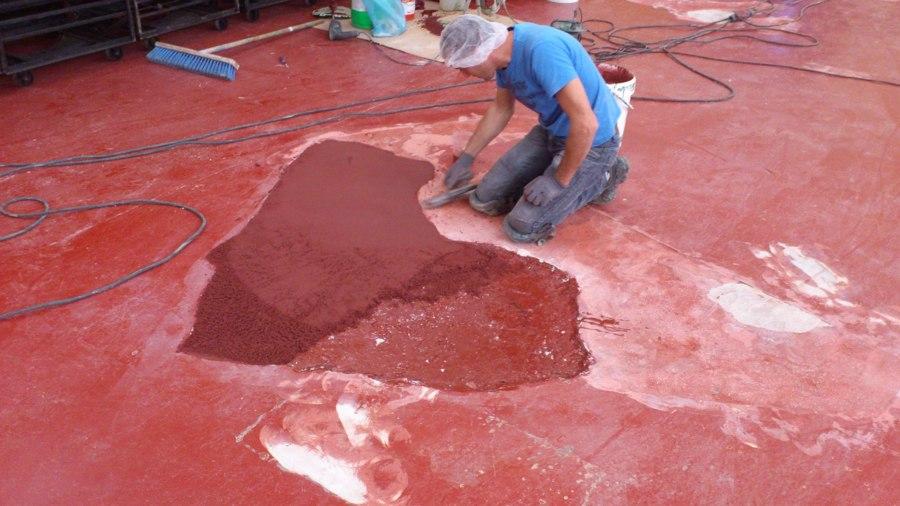 mortero seco epoxi - sobre hormigón dañado