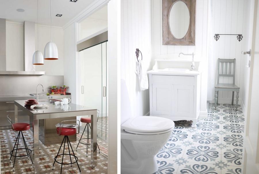 Mosaicos cu l escoger y por qu ideas decoradores for Suelo vinilico imitacion hidraulico