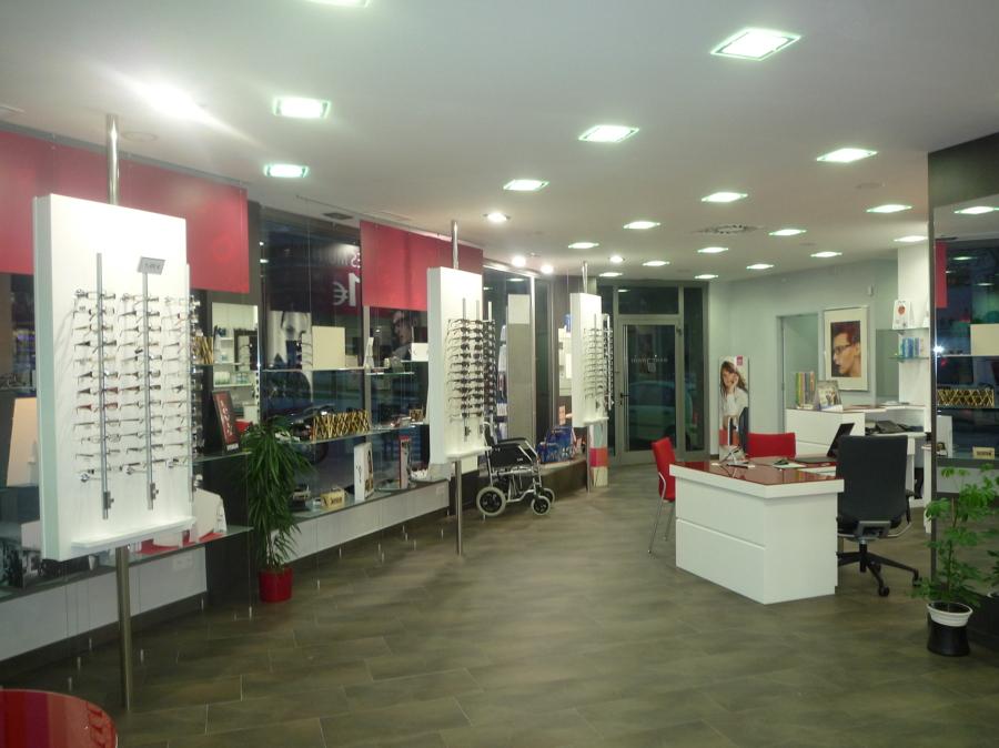 Mostrador gafas óptica