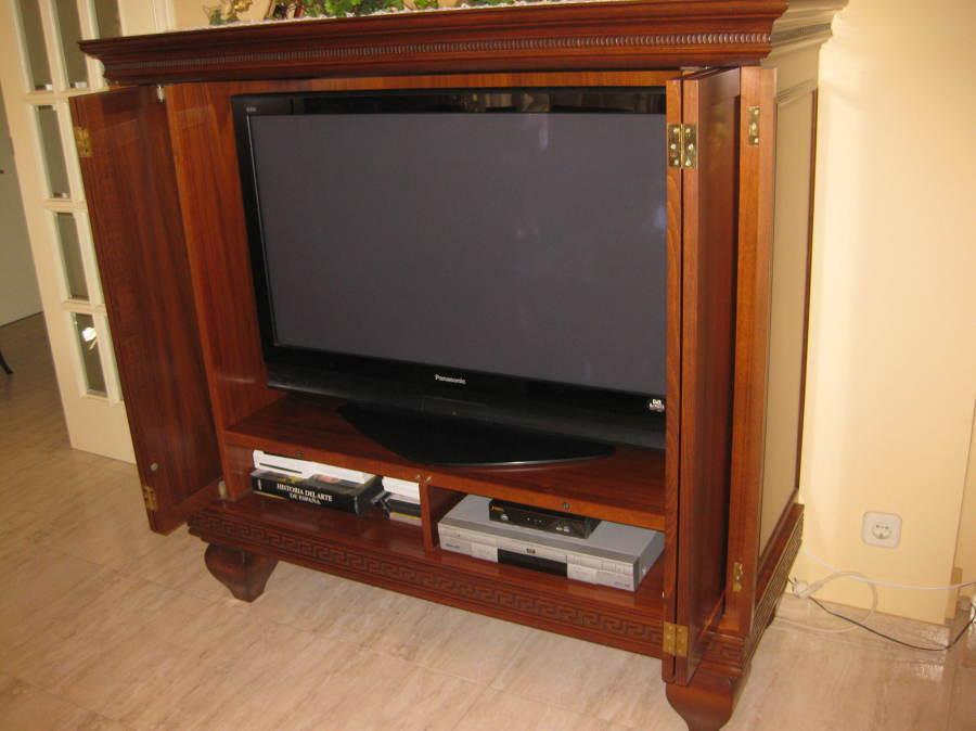 Mueble para tv y equipo musica - Mueble ocultar tv ...