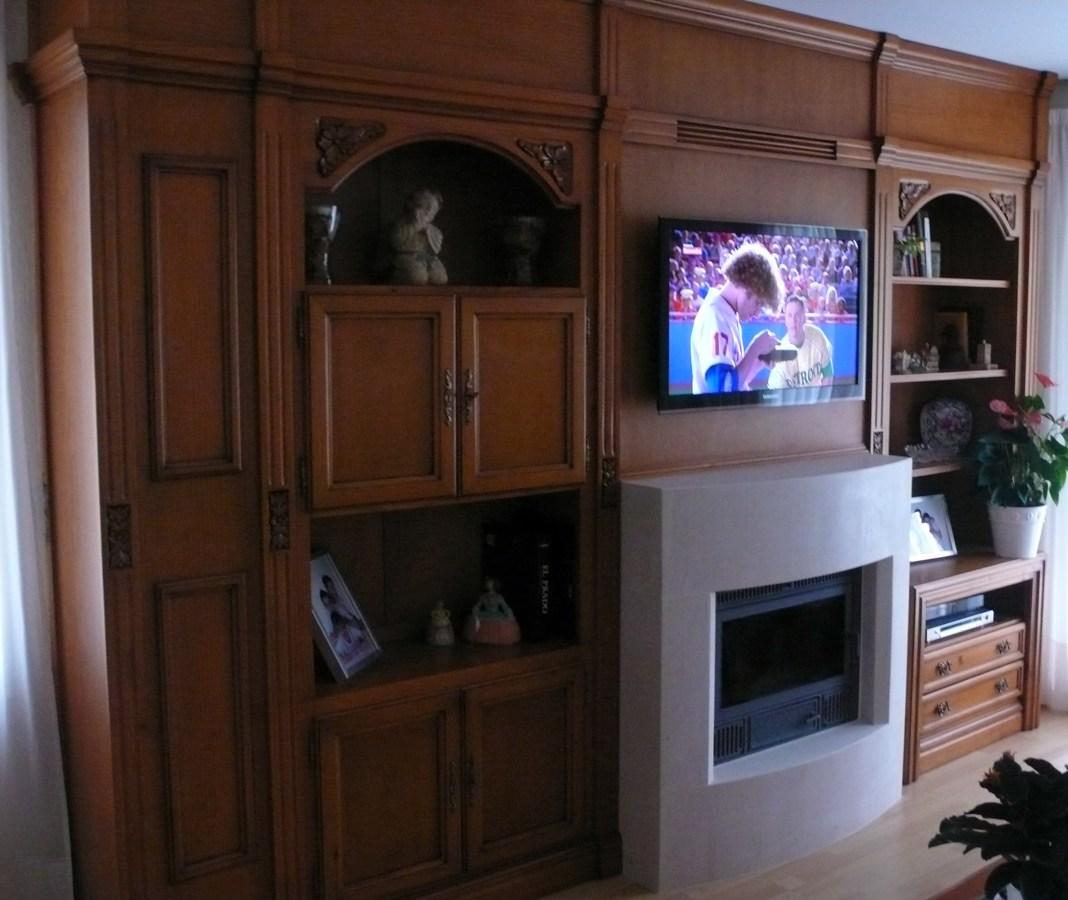 foto mueble adaptado con chimenea de global hispana de