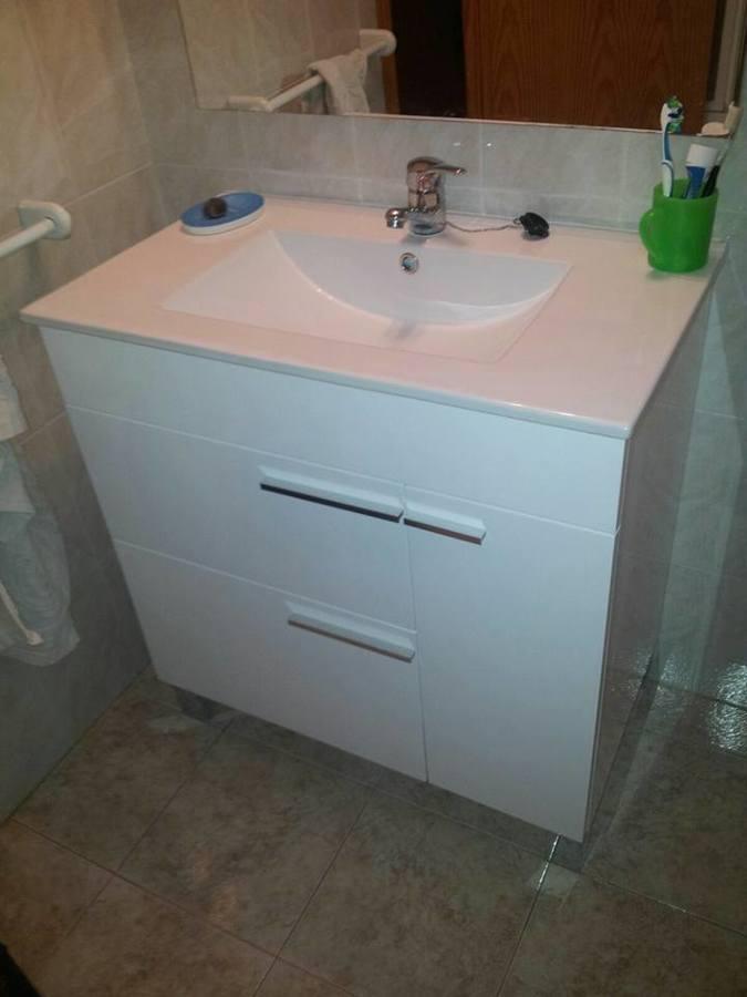 Mueble baño con encimera