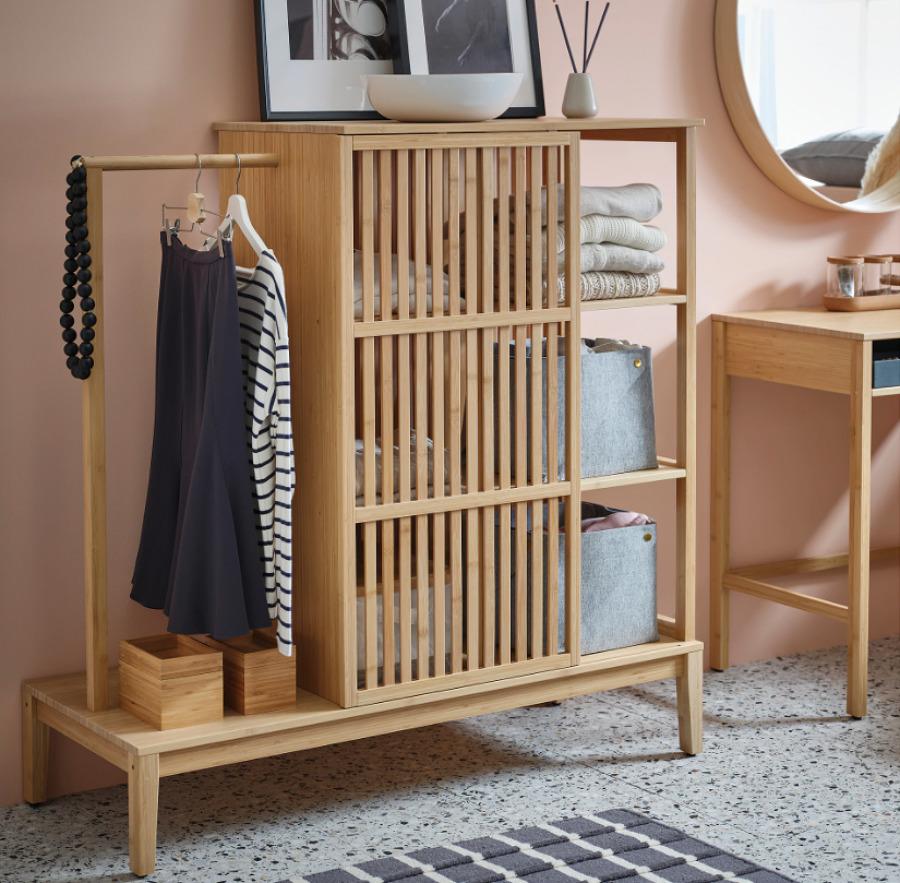 Mueble de bambú IKEA