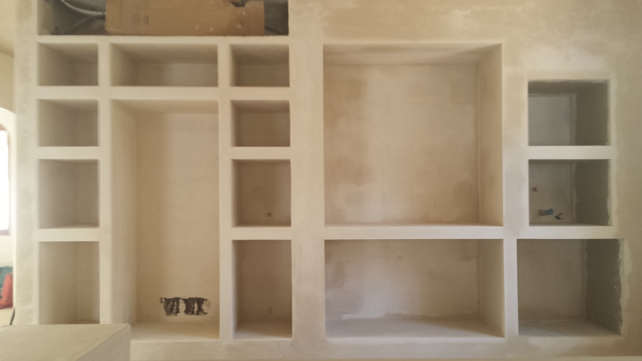 Foto Mueble de Cocina a Medida en Cantos Redondeados a Mano con Yeso