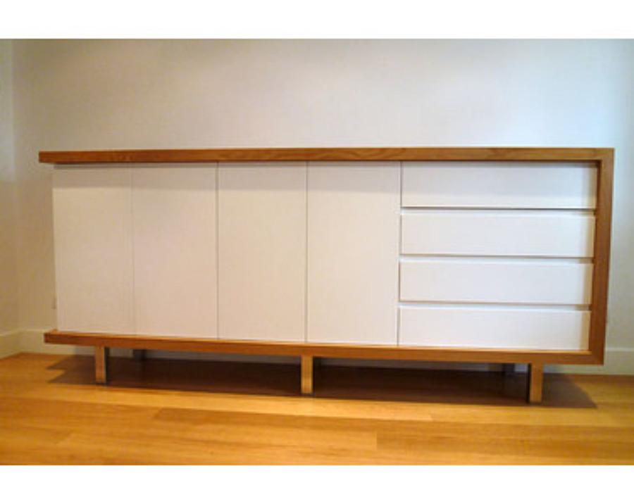 Mueble de hall bicolor